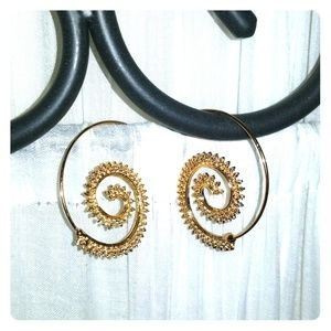 BRAND NEW! Boho Spiral Earrings - Gold